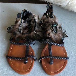 Aldo Peacock Feather Sandals